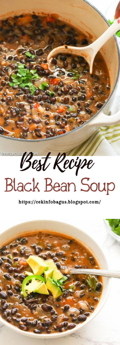 Black Bean Soup #healthyfood #dietketo #breakfast #food