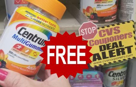 FREE Centrum Vitamins at CVS 1/24-1/30