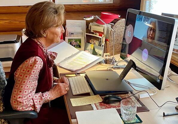 Queen Sonja contacted with Fakhra Salimi, founder and executive director of the MIRA Resource Centre via video call