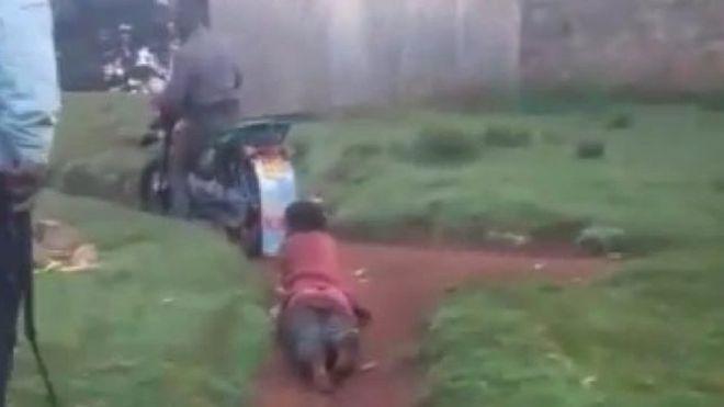 Kenyan police arrested after dragging suspect by motorbike