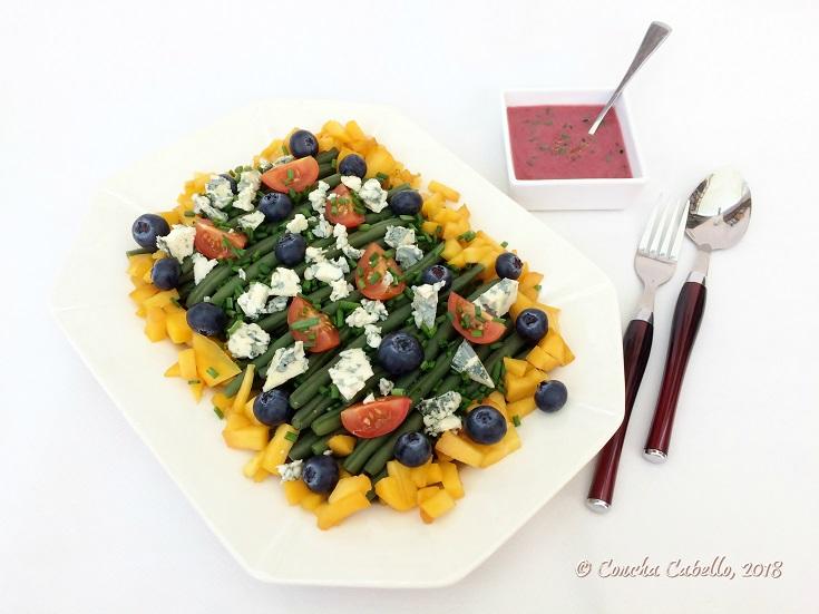 ensalada-judías-mesa