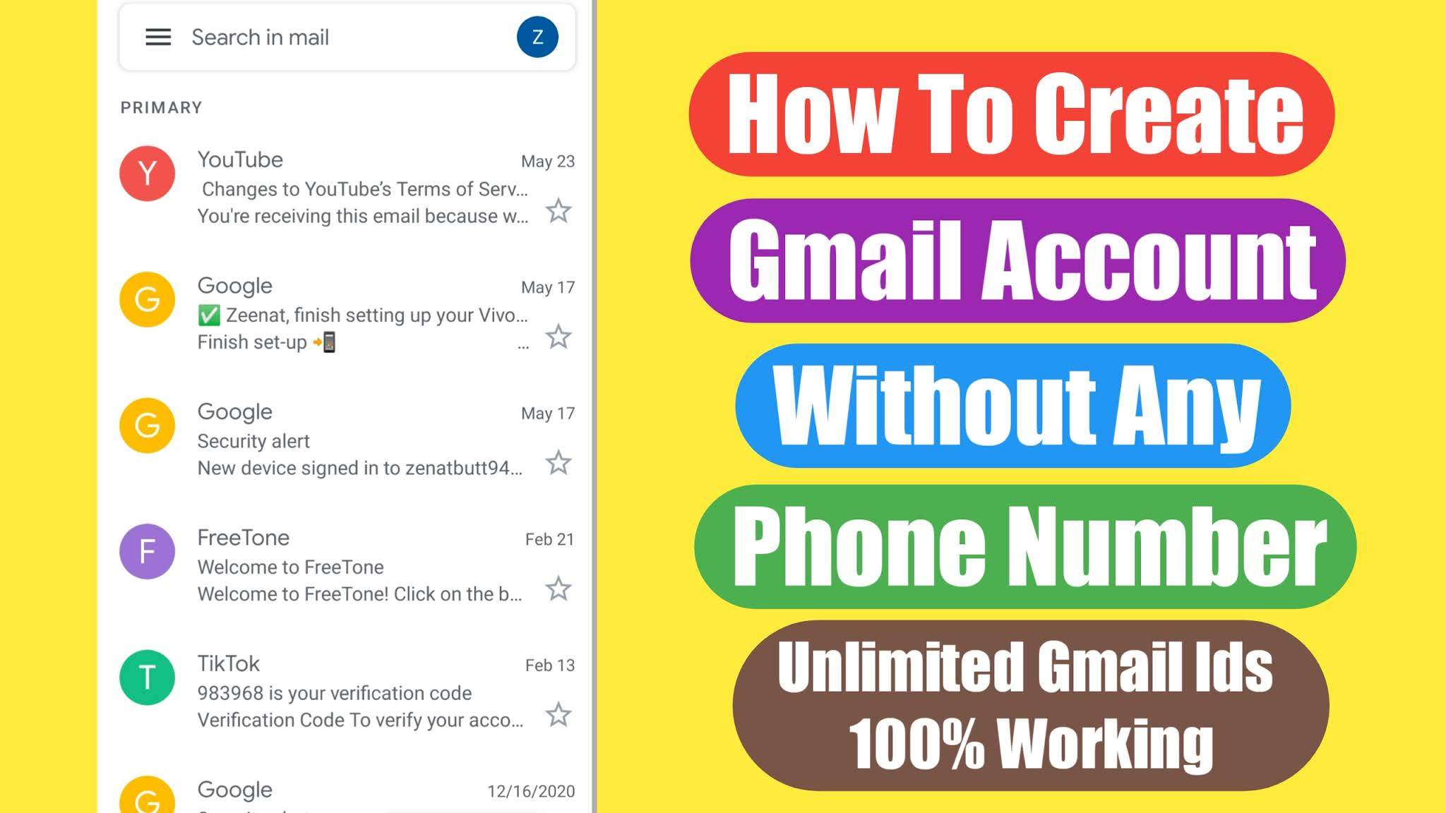 Gmail without sign up How Do