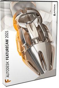 Autodesk FeatureCAM Ultimate 2021 poster box cover