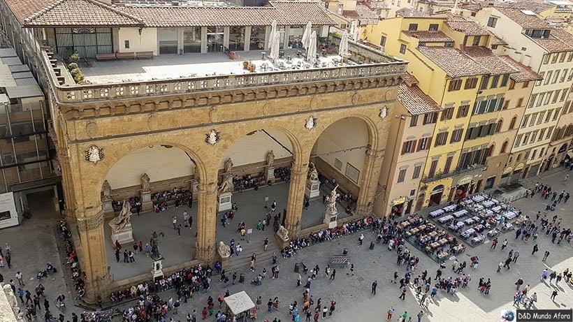 Loggia dei Lanzi - Diário de bordo: 2 dias em Florença