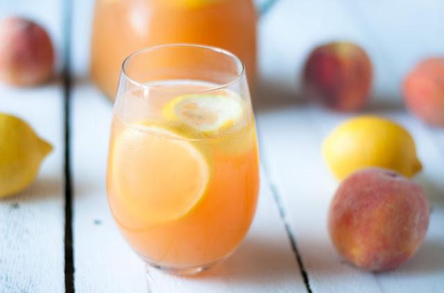 Peach Lemonade #drinks #recipe