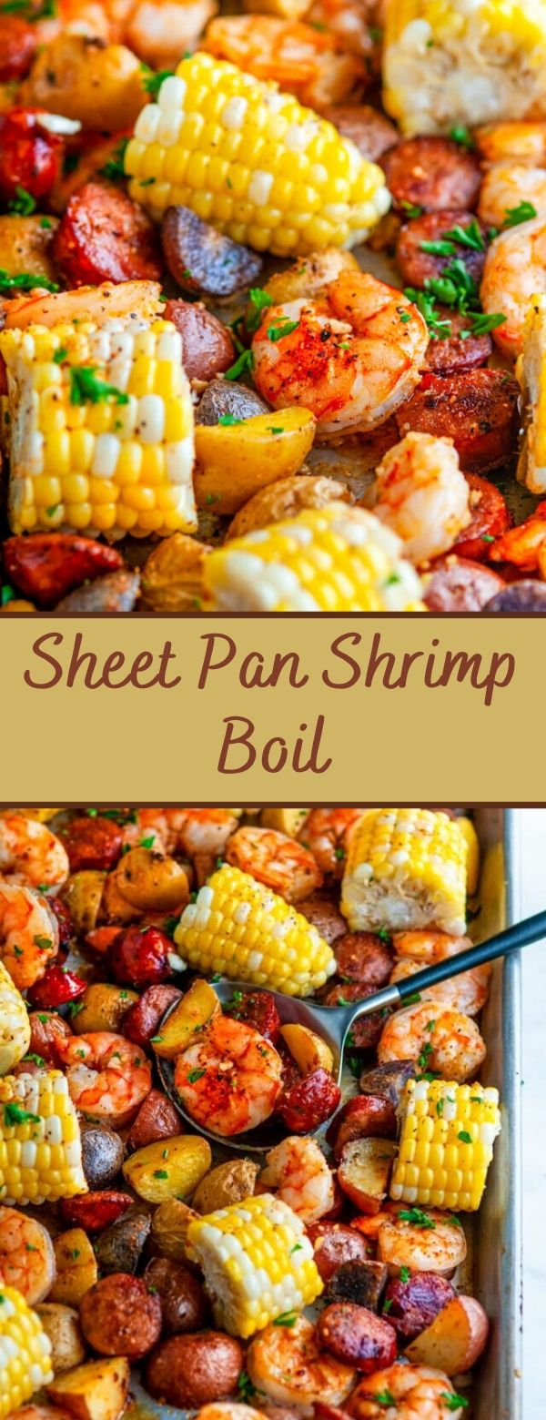Sheet Pan Shrimp Boil #shrimp #dinner #delicius #sheetpan
