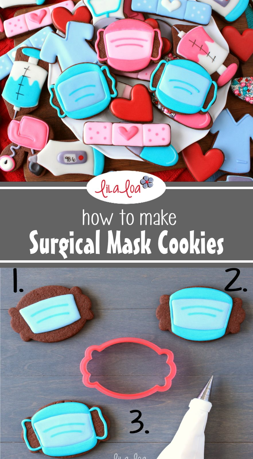 How Sugar Decorated Cookies Surgical Make To Mask