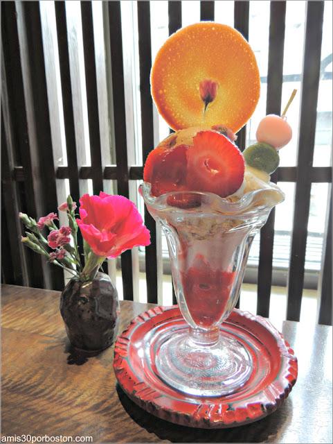 Hanami Parfait de Cha-An Teahouse en Nueva York