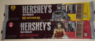Front of Hershey's DC Super Hero Bar 12 Snack Size Batman and Wonder Woman Editions