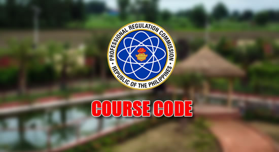 List of over 950 Course Code listed on PRC website
