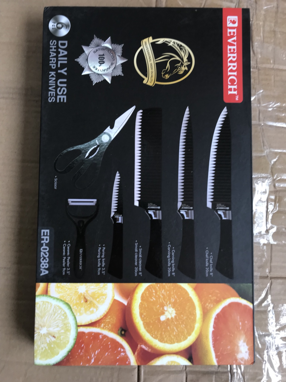 420k - Bộ dao làm bếp 6 món EVERRICH chính hãng giá sỉ và lẻ rẻ nhất
