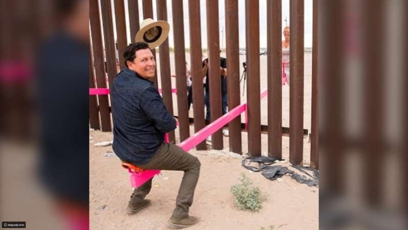 A baby swing on the US-Mexico border ... wins this year's Paisley Design award