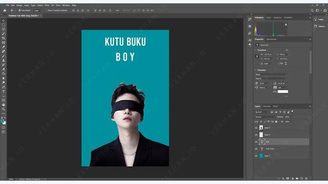 desain cover wattpad di photoshop