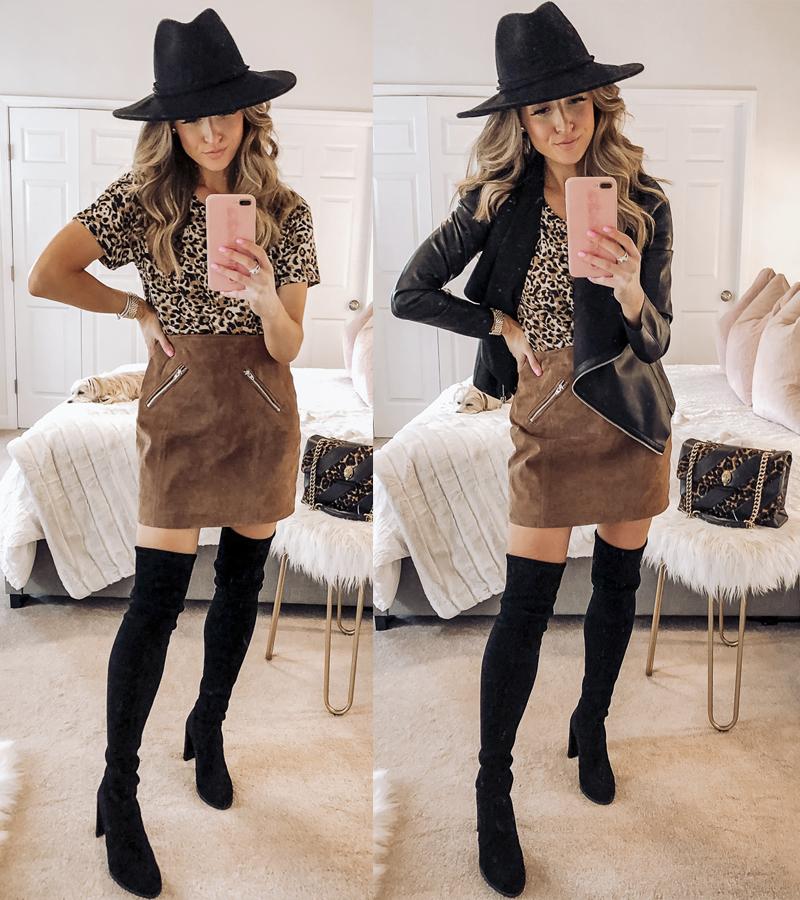 blanknyc coffee bean suede miniskirt