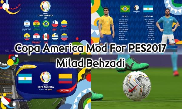 PES 2017 New Copa America 2021 Mod