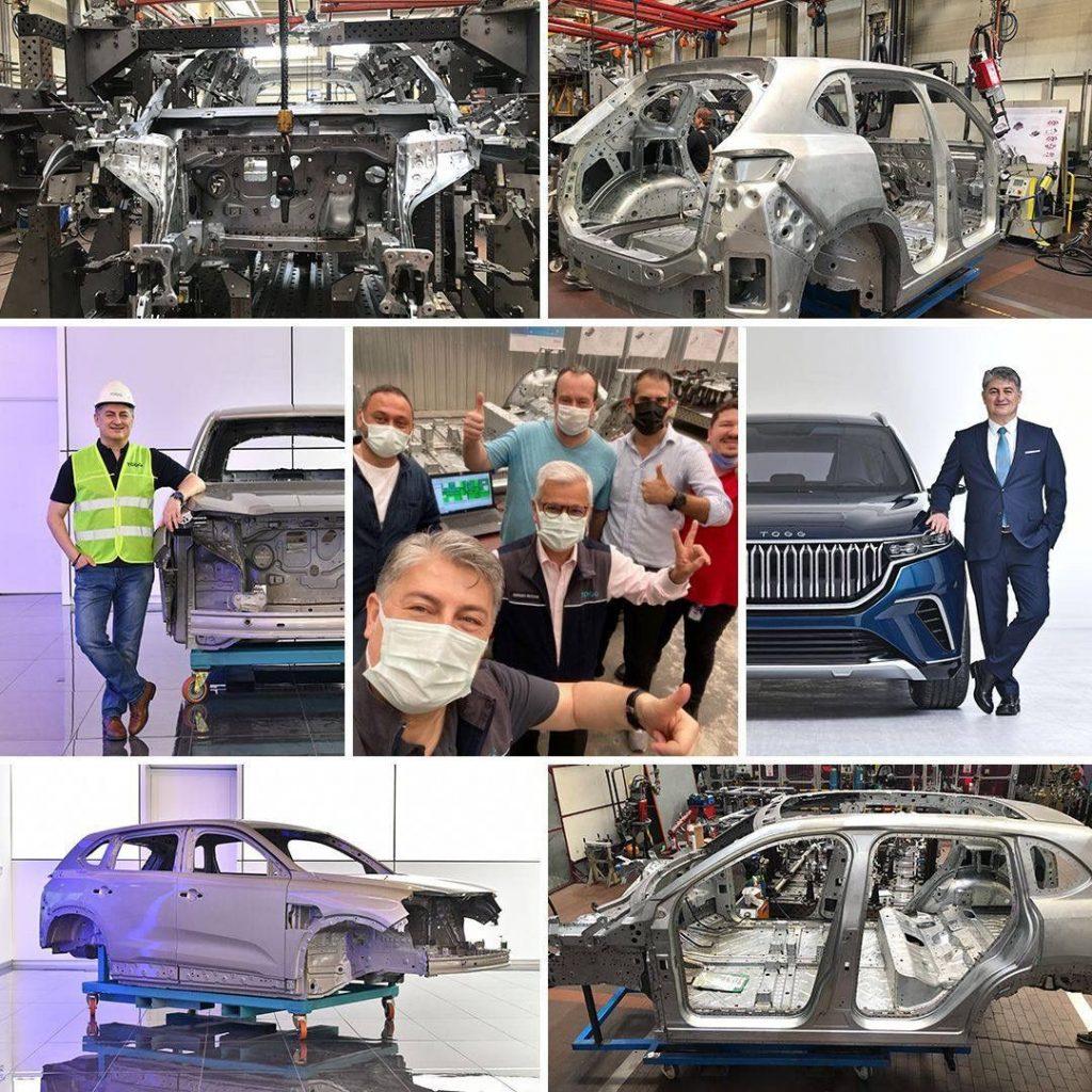 Türkiye'nin Otomobili Girişim Grubu (TOGG) Gemlik Tesisi'nde yerli araç çalışmaları devam ederken, otomobilin montajından ilk görüntü paylaşıldı.