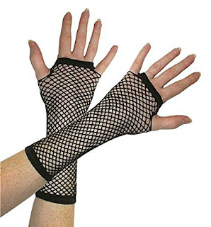 Black Fishnet Gloves for Cyndi Lauper costume
