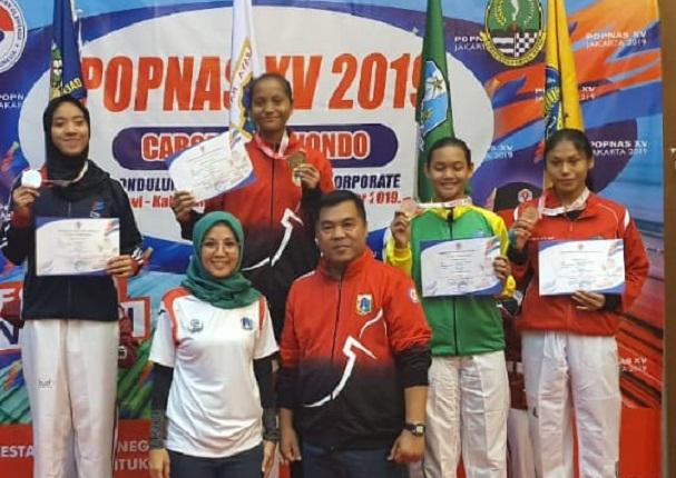 Lagi, Atlet Taekwondo Kadek Ristina Raih Medali Di Popnas XV/2019