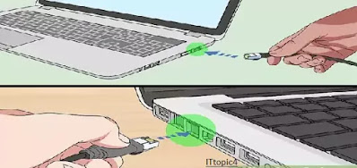 Connect the two computers with an Ethernet cable