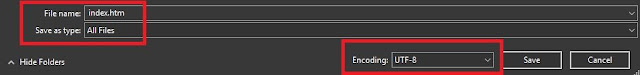 Menyimpan Hasil Kodingan HTML