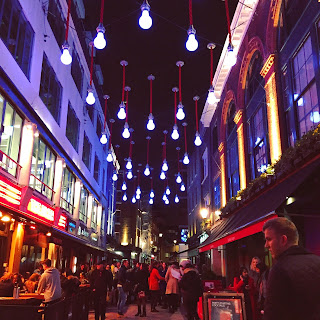 All of the lights on Carnaby Street