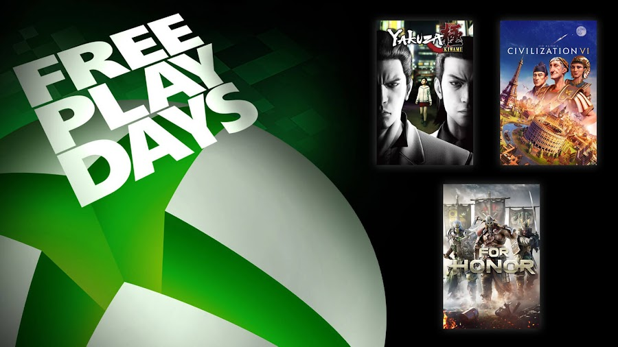 civilization 6 for honor yakuza kiwami xbox live gold free play days event