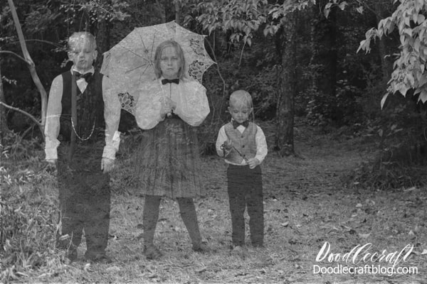 Chilling photographs of ghost children from the Victorian age caught on camera! Photoshop editing tutorial for the perfect Halloween pictures.