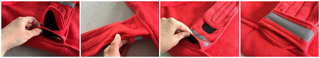Step-by-step how to make a dog coat belly band more adjustable