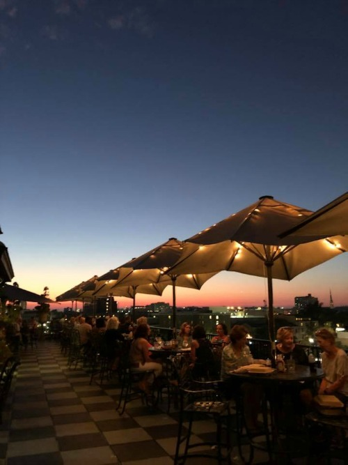Market Pavilion Hotel roof deck sunset Charleston SC