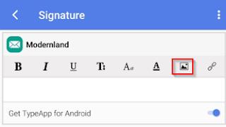 Cara Pasang Signature Gambar Di Email Hp Android Dengan TypeApp