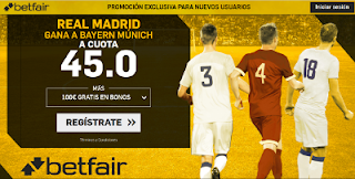 betfair bayern vs Real Madrid champions league 24 abril