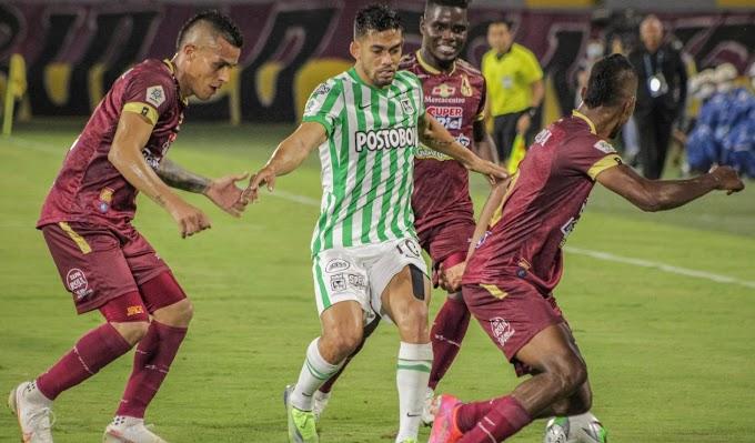 El campeón expone su 'paternidad': Estos son los números de los duelos entre DEPORTES TOLIMA y Atlético Nacional