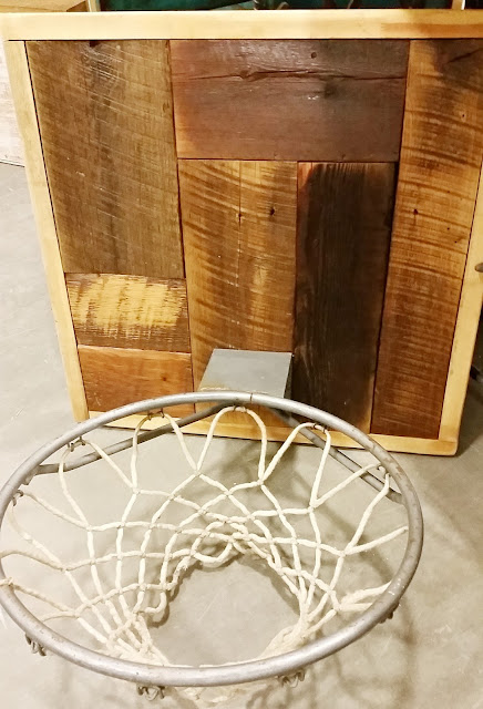 basketball hoop, reclaimed wood, barnwood, hoop, http://bec4-beyondthepicketfence.blogspot.com/2016/04/another-show-in-books.html