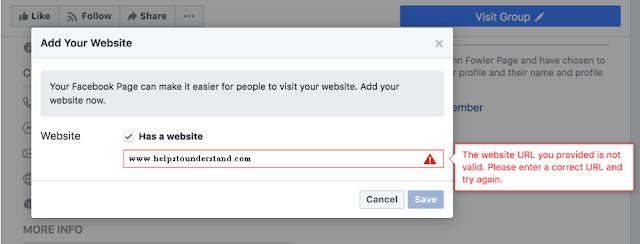 Image for When I add blocked website to the page - Facebook blocked website.