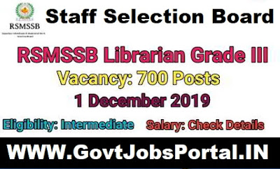 Govt Jobs for 700 Librarian Posts in Rajasthan