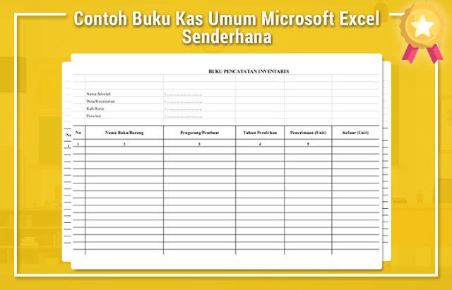Contoh Buku Kas Umum Microsoft Excel Senderhana