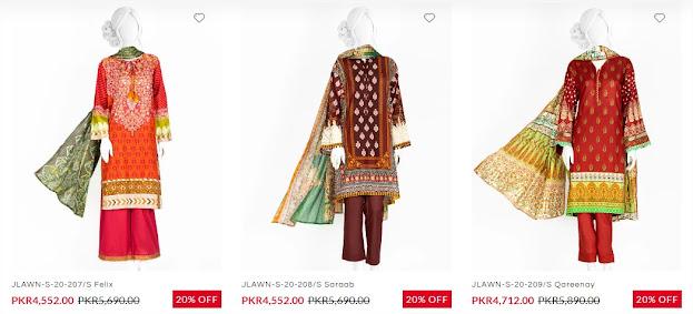 J. janiad jamshed sale on festive collection women