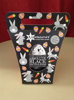 Montezuma's Absolute Black Easter Egg with Cocoa Nibs & Buttons