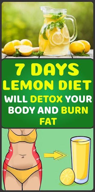 7-Days Lemon Diet Will Detox Your Body and Burn Fat!