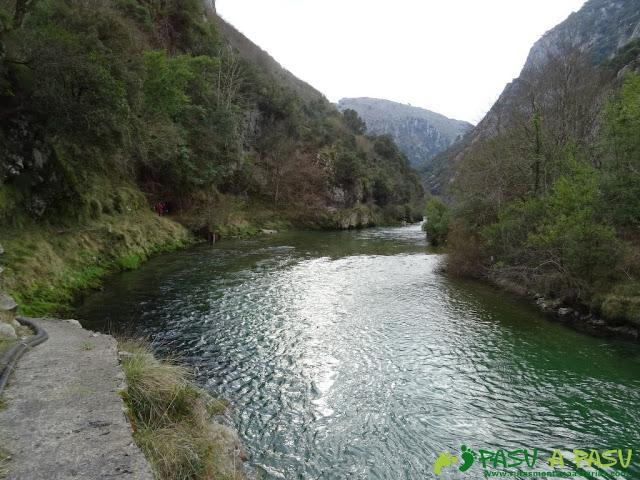 Ruta a la Pica de Peñamellera: Vista hacia atrás en el Río Cares