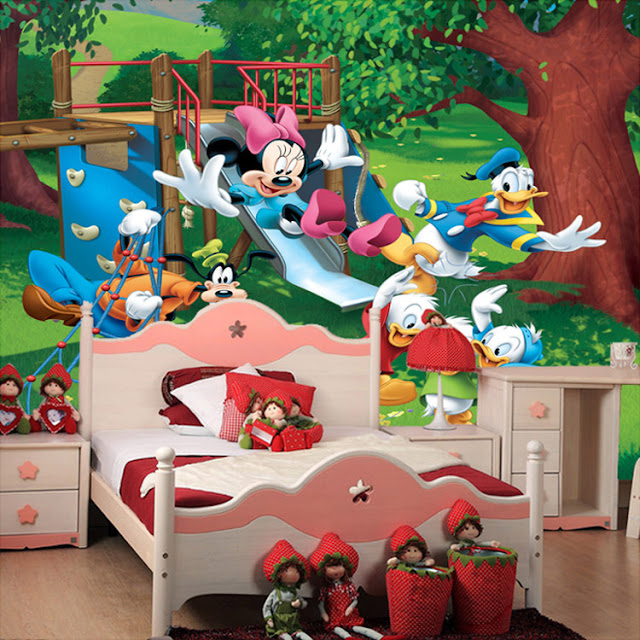 Mickey Mouse Wall Mural 3D wallpaper Kids
