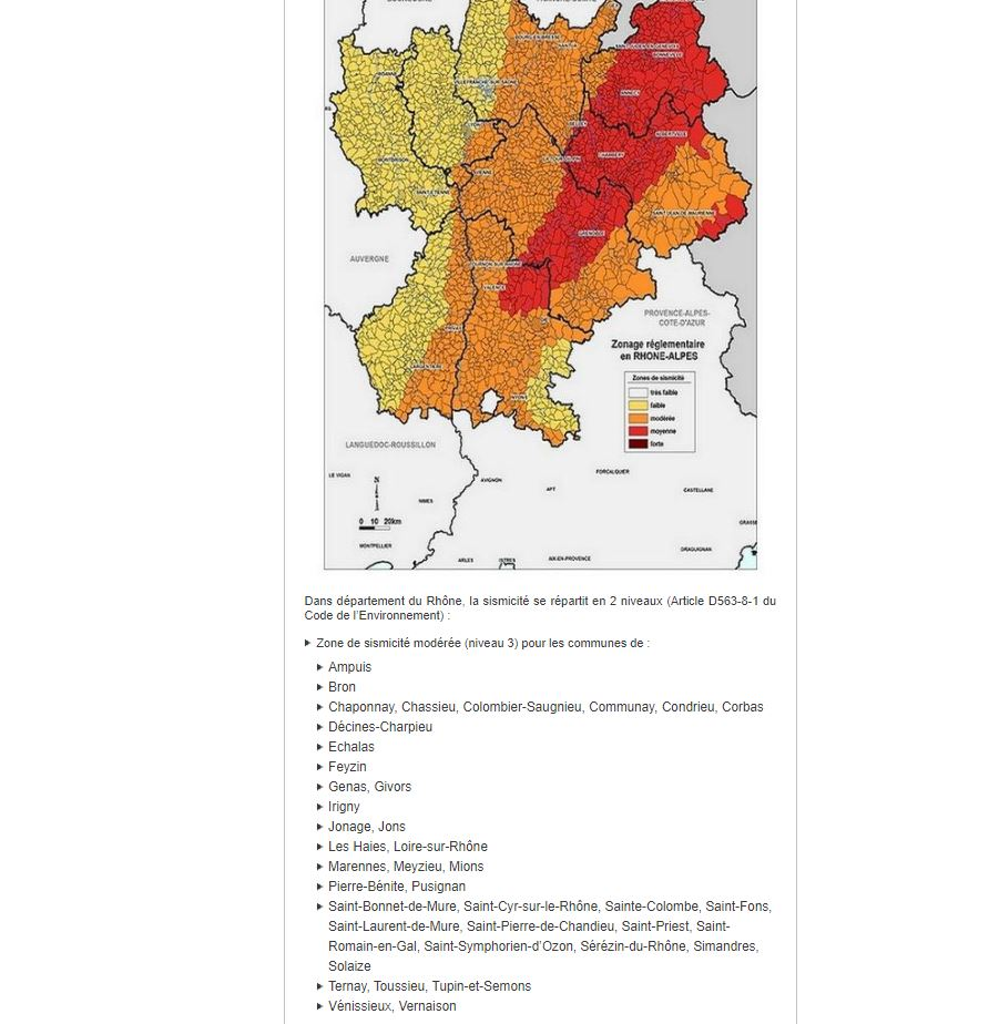 Risque sismique à Lyon et ses environs