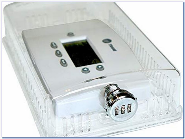 Thermostat cover with combination lock