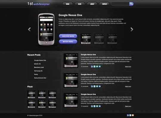 Convert a 3D Portfolio Dark Layout From PSD to HTML