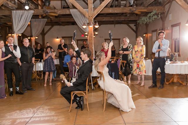 Shenandoah Mill in Gilbert AZ Wedding Photo of the reception fun by Micah Carling Photography