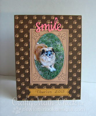 Puppy Photo Frame by Crafty Math Chick | Garden Starter Stamp Set & Garden Window Die Set by Newton's Nook Designs