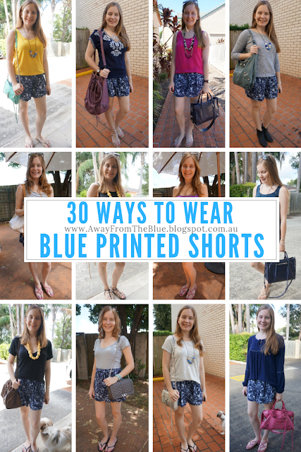 30 Ways To Wear Blue Printed Shorts: Summer Outfit Ideas | awayfromblue