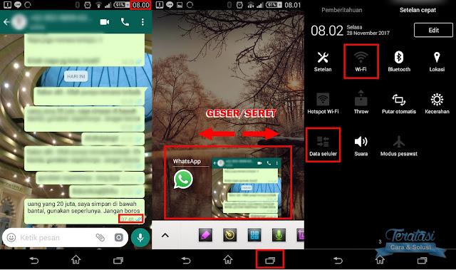 tutup jendela whatsapp yang aktif dan matikan koneksi internet anda - cara menghapus pesan terkirim whatsapp tanpa batas 7 menit - teratasi.com