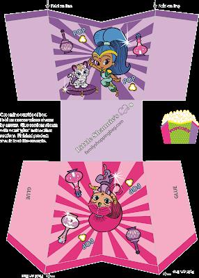 Shimmer y Shine: Kit para Fiesta para Imprimir Gratis.