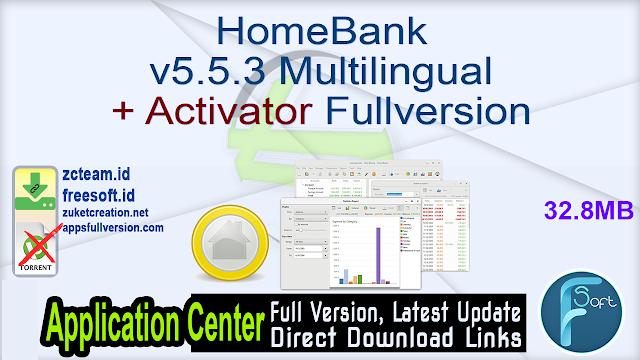 HomeBank v5.5.3 Multilingual + Activator Fullversion